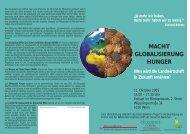 MACHT GLOBALISIERUNG HUNGER - Ökosoziales Forum