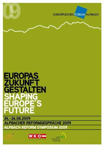 europas zukunft gestalten shaping europe's future - Ökosoziales ...