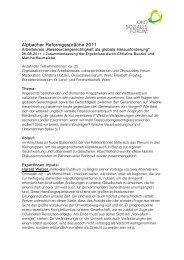 Alpbacher Reformgespräche 2011 - Ökosoziales Forum
