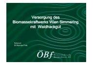 Versorgung des Biomassekraftwerks Wien Simmering mit ...
