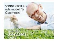SONNENTOR als role model für Österreich?