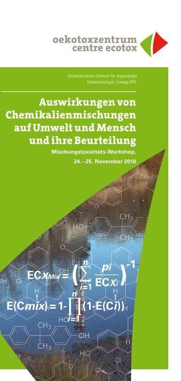 Auswirkungen von Chemikalienmischungen auf ... - Oekotoxzentrum