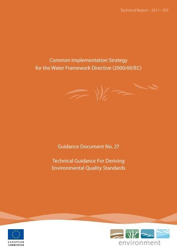 Technical Guidance For Deriving Environmental ... - Oekotoxzentrum