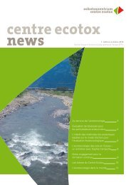 Centre Ecotox News 1, octobre 2010 PDF - Oekotoxzentrum
