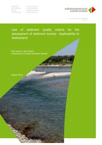 Use of sediment quality criteria for the assessment ... - Oekotoxzentrum