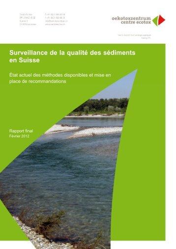 Surveillance de la qualité des sédiments en Suisse - Oekotoxzentrum