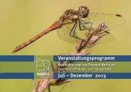 Programm Juli bis Dezember 2013 als pdf - Naturschutzzentrum ...