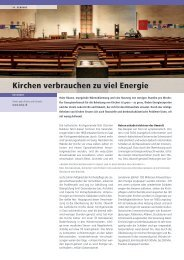 Beitrag BFE-Zeitschrift energeia - oeku Kirche und Umwelt