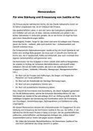 Memorandum - oeku Kirche und Umwelt