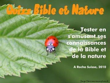 """Quizz """"Bible et Nature"""" (PDF, 7MB)"""