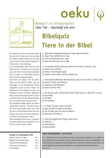 Bibelquiz Tiere in der Bibel - oeku Kirche und Umwelt