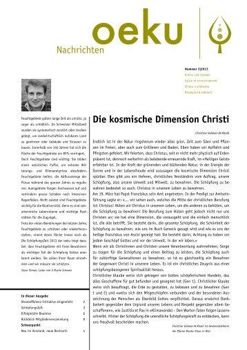 Ausgabe 3/2013 - oeku Kirche und Umwelt
