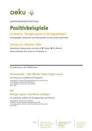 Positivbeispiele - oeku Kirche und Umwelt