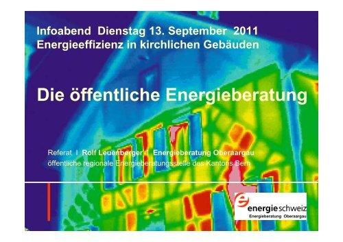 Energieberatung Oberaargau