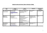 Medienreferentenliste (Stand Juli 2007)