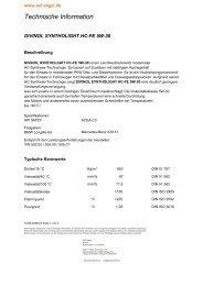 Produktblatt - Öl und Schmierstoffhandel Engel