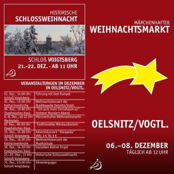 SCHLOSSWEIHNACHT - Stadt Oelsnitz