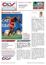 Austrian Power! - ÖLV Österreichischer Leichtathletikverband