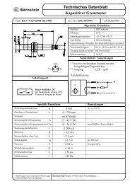 Technisches Datenblatt Kapazitiver Grenztaster - OEM Automatic AB