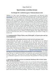 Sportwetten verstehen lernen - Österreichische Mathematische ...