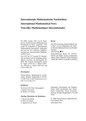 203 - Österreichische Mathematische Gesellschaft