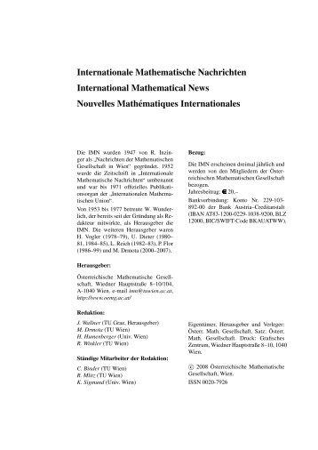 208 - Österreichische Mathematische Gesellschaft