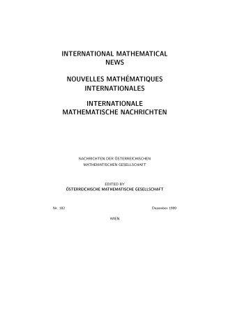 182 - Österreichische Mathematische Gesellschaft