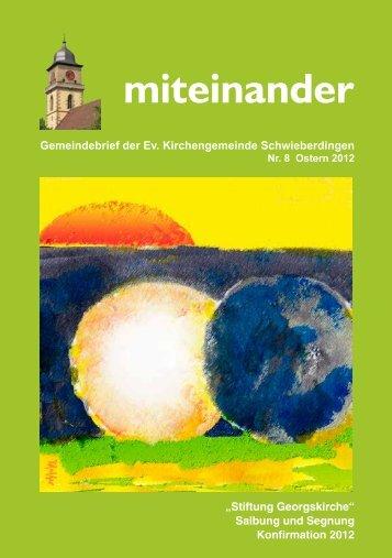 miteinander - Evangelische Kirchengemeinde Schwieberdingen