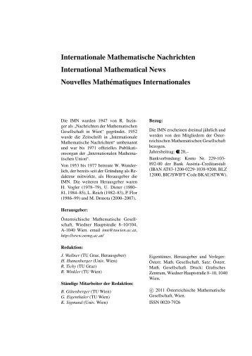 218 - Österreichische Mathematische Gesellschaft