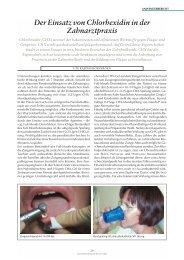 Der Einsatz von Chlorhexidin in der Zahnarztpraxis - ZWP online