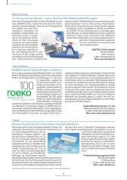 ROEKO feiert 100-jähriges Jubiläum 4 mm aus einem ... - ZWP online