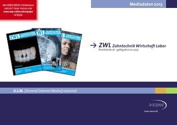 ZWL Zahntechnik Wirtschaft Labor - Oemus Media AG