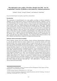 Microbiological water quality of the River Danube (km ... - OEN-IAD