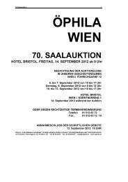 70. saalauktion - Öphila Wien