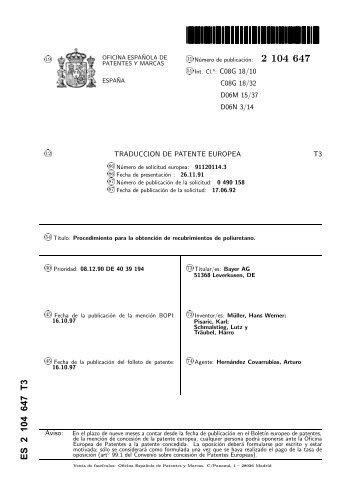 2151558 t3 oficina espa ola de patentes y marcas for Oficina de patentes y marcas sevilla