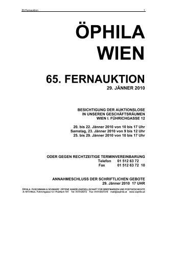 65. fernauktion - Öphila Wien