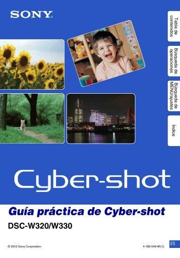 Guía práctica de Cyber-shot - Sony