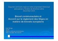 Brevet communautaire et Accord sur le règlement des litiges en ...