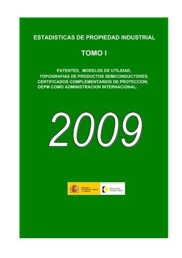 Estadísticas de Propiedad Industrial 2009 (Tomo 1) - Oficina ...