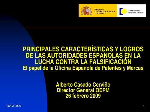 Principales características y - Oficina Española de Patentes y Marcas