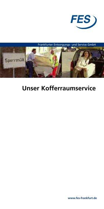 Kofferraumservice Frankfurt