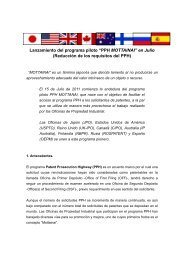 PPH MOTTAINAI - Oficina Española de Patentes y Marcas