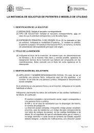 Instrucciones - 3101X1 - Oficina Española de Patentes y Marcas