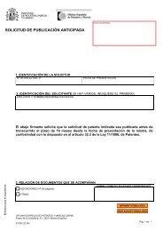 solicitud de publicación anticipada - Oficina Española de Patentes y ...
