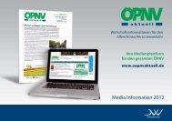 Media Information 2012 - ÖPNV aktuell