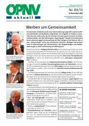ÖPNV aktuell Ausgabe 89/2013