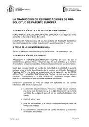 Instrucciones - TRSPEX1 - Oficina Española de Patentes y Marcas