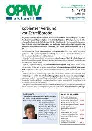 ÖPNV aktuell Ausgabe 18/2013