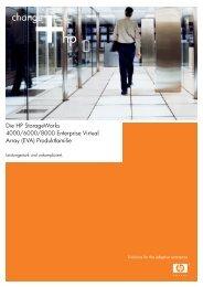 Die HP StorageWorks 4000/6000/8000 Enterprise Virtual Array (EVA)
