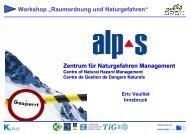 Alpine Naturgefahren - Naturgefahren-Management im Rahmen von ...